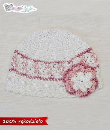 Ręcznie robiona czapeczka kapelusik mamidadi