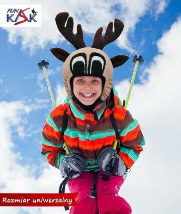 nakładka na kask narciarski polarowa - Funkask