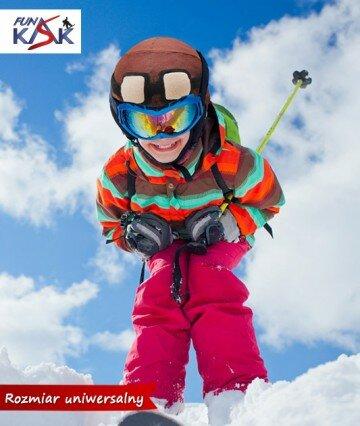 nakładka na kask narciarski, pomysł na prezent, mikołajki, gwiazdka, urodziny, ozdoba na kask