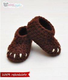 ręcznie robione buciki mamidadi dla chłopca misie