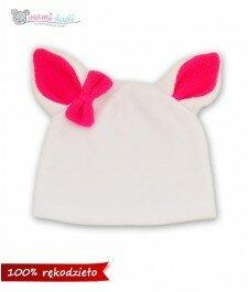 czapka-dla dziecka-dla niemowlaka-kot-kotek-ciepła-delikatna-miękka w dotyku-idealny na prezent-podarunek