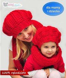 Komplet beret + komin dla dziewczynki