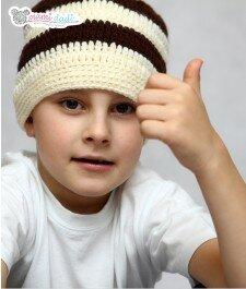 Ręcznie robiona czapeczka mamidadi