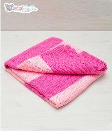 Kocyk Kolorowy Sen - różowy