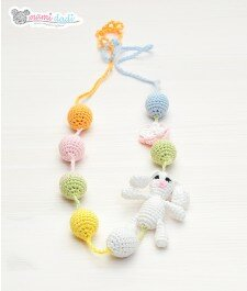 zajączek, króliczek, korale, ręcznie robione, mamidadi.pl, pomoc dla mamy, korale do karmienia, idealne dla małych dzieci, bobasów, noworodków, prezent, babysower, kolorowe korale