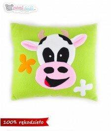 poduszka, króeka, krowa, szalona krowa, poduchoprzytulanka, handmade, mamidadi, ręczna robota, wyprodukowane w Polsca